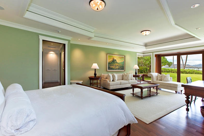 Master Bedroom gazes out at ocean