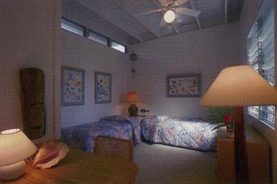 Twin beds in Cottage bedroom