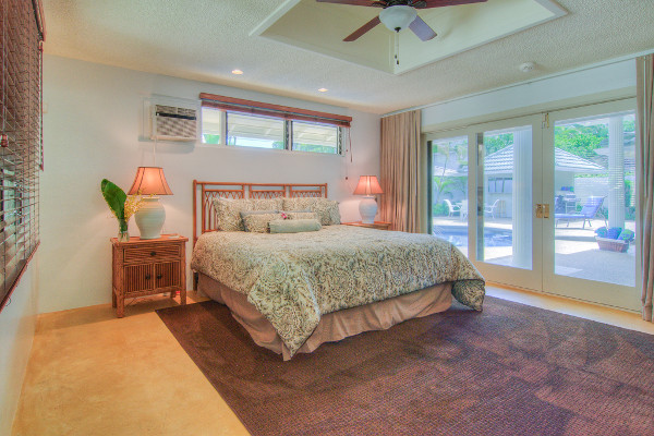 Master Suite right off pool deck
