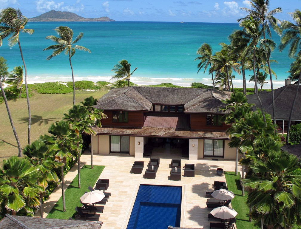 Overhead view of Royal Beach Estate Vacation Rental